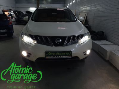 Nissan Murano Z51, замена линз на Bi-led Optima Pro - фото 12
