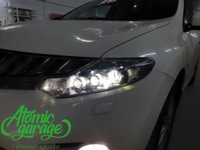 Nissan Murano Z51, замена линз на Bi-led Optima Pro - фото 11