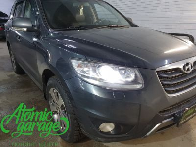 Hyundai Santa Fe CM, замена линз на Bi-led Diliht Triled + DRL Probright Base - фото 2