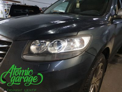 Hyundai Santa Fe CM, замена линз на Bi-led Diliht Triled + DRL Probright Base - фото 5
