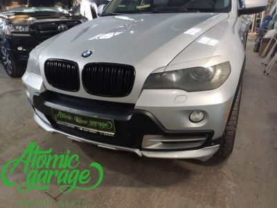 BMW X5 E70, замена линз на Bi-led Diliht Triled + кольца F-style - фото 1