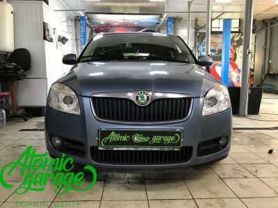 Skoda Fabia Mk2, замена линз на Bi-led Optima Professional - фото 7