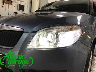 Skoda Fabia Mk2, замена линз на Bi-led Optima Professional - фото 12