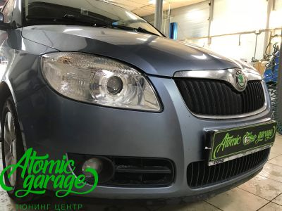Skoda Fabia Mk2, замена линз на Bi-led Optima Professional - фото 8