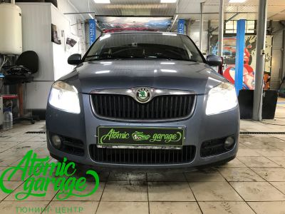 Skoda Fabia Mk2, замена линз на Bi-led Optima Professional - фото 10