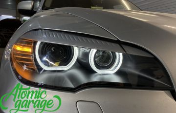 BMW X5 E70, замена линз на Bi-led Diliht Triled + кольца F-style