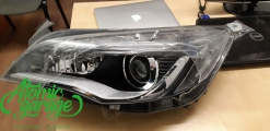 Opel Astra J, замена левого стекла фары + ремонт корпуса