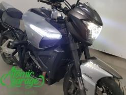 Мотоцикл Suzuki B-King, установка линз Bi-led Optima + бегущие поворотники