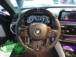 BMW M5 F90 Stingray, изменение анатомии руля + карбон + перешив кожа