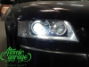 Audi A8 D3 4E, замена штатных линз на Hella 3R + восстановление стекол фар