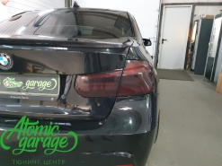 BMW 3 F30, тонировка задних фонарей