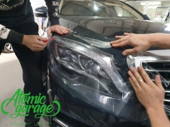 Mercedes w222, бронирование стекол фар