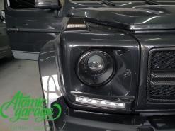 Mercedes Gelandewagen W463, замена штатных линз на Bi-Led Optima Pro + покраска