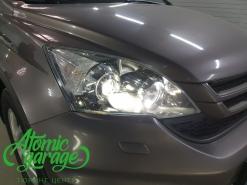 Honda CR-V 3, замена линз на Bi-Led Optima Adaptive + восстановления стекол