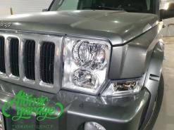 Jeep Commander, чистка + полировка + бронирование оптики