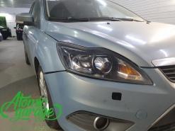 Ford Focus 2 рестайлинг, замена линз на Hella 3R + покраска масок фар