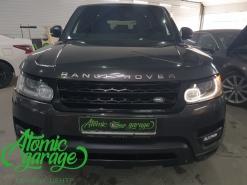 Range Rover Sport, ремонт ходового огня правой фары