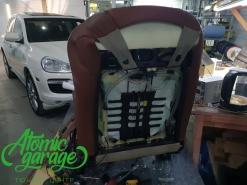 Porsche Cayenne 957, установка вентиляция водительского сидения