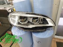 BMW X6 E71 Led, замена стекла правой фары + ремонт корпуса