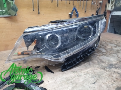 Kia Optima JF, ремонт корпуса + замена стекла левой фары