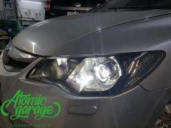 Honda Civic 4D, установка линз Bi-led X-bright