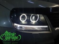 Suzuki Grand Vitara, установка 4-х линзы Bi-led + ПТФ Bi-led + индивидуальные ходовые огни