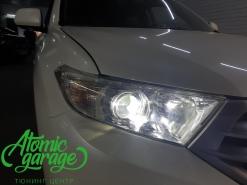 Toyota Highlander (XU40), замена линз на X-bright + омыватель задней камеры