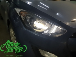 Hyundai i30 GD, замена линз на Bi-led Diliht Triled