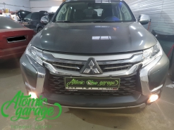 Mitsubishi Pajero Sport 3, замена линз на Bi-led Diliht Tendel