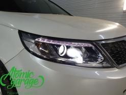 Kia Sorento XM, замена линз на Bi-led Diliht Triled + восстановление стекол