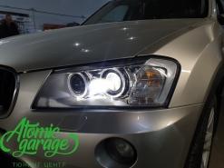 BMW X3 F25, замена линз на Bi-Led Diliht Tendel + восстановление стекол