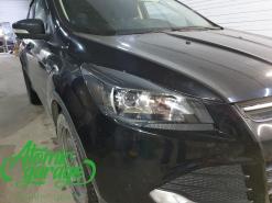 Ford Kuga, установка линз Bi-led Diliht Tendel + покраска масок фар