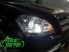 Mercedes GL X164, замена штатных линз на Bi-led Diliht Triled + восстановление стекол