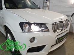 BMW X3 F25, замена линз на Hella 3R + покраска масок