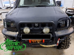 Suzuki Jimny Gen3, установка линз Bi-led Diliht Triled + покраска масок фар