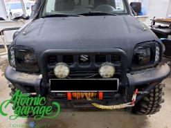 Suzuki Jimny Gen3, установка линз Bi-led Diliht Triled + покраска масок фар