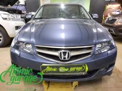 Honda Accord 7, замена линз на Bi-led Diliht Triled + восстановление стекол