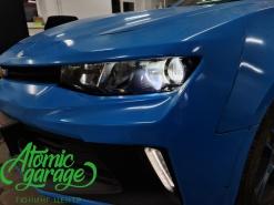 Chevrolet Camaro ZL1, замена штатных линз на Bi-led Aozoom Laser + восстановление стекол