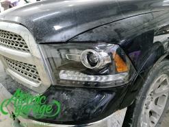 Dodge Ram 1500, замена линз на Bi-led Aozoom Laser + покраска масок