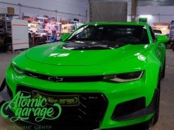 Chevrolet Camaro ZL1, замена штатных линз на Bi-led Diliht Triled