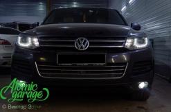 Volkswagen Touareg NF, замена линз на Bi-led Optima + Bi-led ПТФ + новые стекла