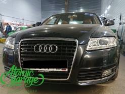 Audi A6 C6, замена штатных линз на Hella 3R + подсветка дверей