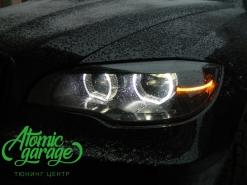 BMW X6 F16 M-series Full Led, покраска масок фар в черный глянец