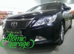 Toyota Camry v50, замена штатных линз на Hella R + новые стекла фар