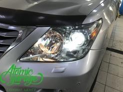 Lexus LX570, замена штатных линз на Bi-led Optima Pro