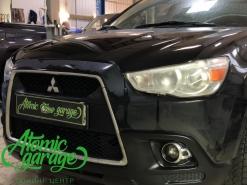 Mitsubishi ASX, замена левого стекла фары