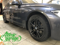 BMW 3 F30, покраска дисков + защитная сетка радиатора