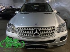 Mercedes ML W164, замена штатных линз на Bi-led Diliht Tendel + восстановление стекол