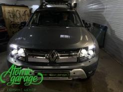 Renault Duster, установка 4-х линз Bi-led Diliht Tendel