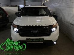 Ford Explorer 5 дорестайлинг, линзы Bi-Led Diliht Triled + Led ПТФ